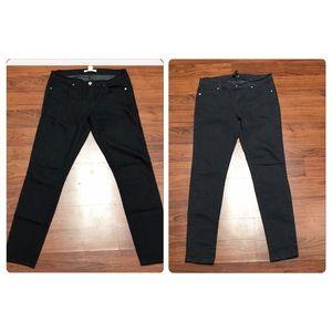 2 Forever 21 Skinny Grey & Black Jeans, Size 28